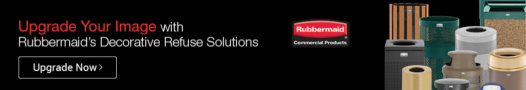 Upgrade Your Image with Rubbermaid's Decorative Refuse Solutions