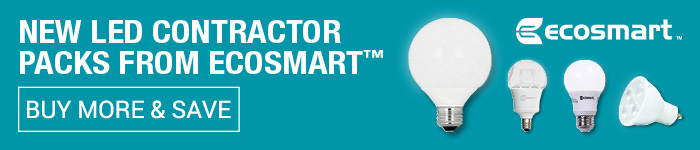 New LED Contractor Packs form Ecosmart. Buy More & Save