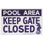 pool safety signage