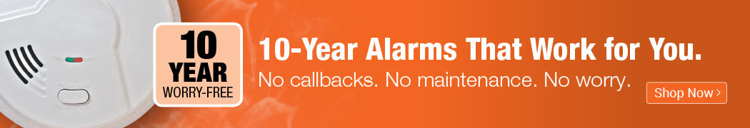 10-Year Battery Safety Alarms