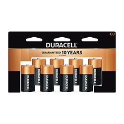 Duracell C Batteries, 8/pack